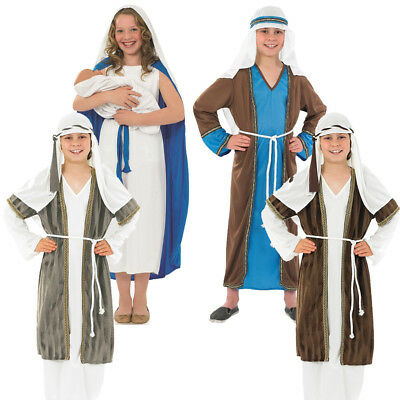 Childs Girls Boys Christmas Nativity Play Costume Mary - Mary Nativity Play Costume