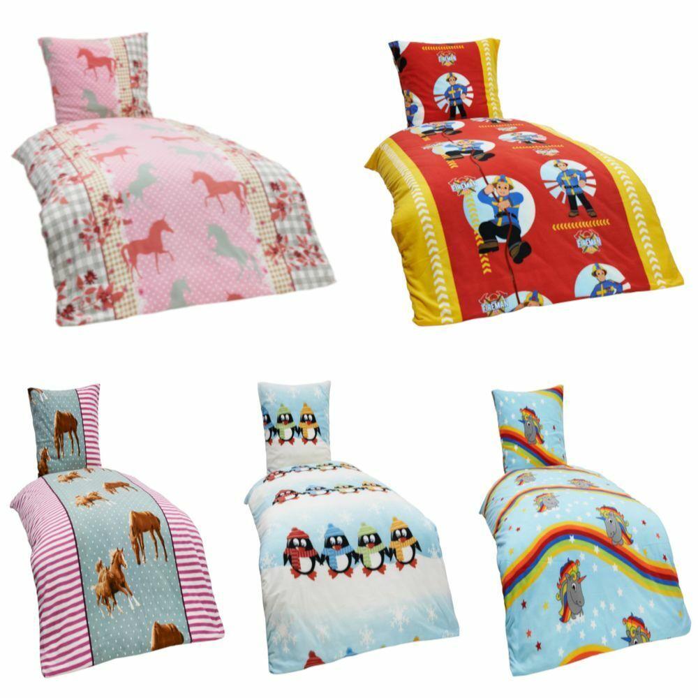 2 teilige Kinder Warme Kuschel Fleece Bettwäsche 135x200 + Kissenbezug 80x80