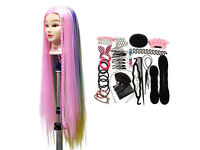 Brand new. Mannequin Head 100% with Synthetic Hair, clamp, styling set, stylist hairdressing beauty