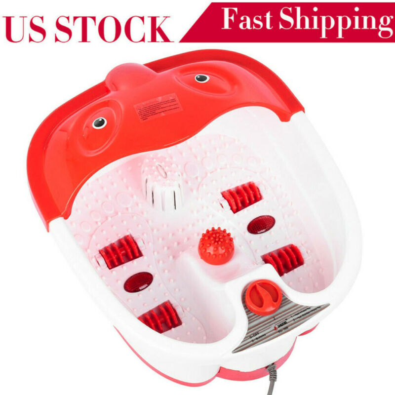 New Foot Spa/Bath Massager With Heat, Bubble-s And Vibration