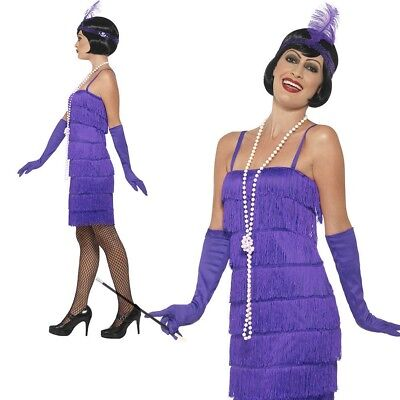 Lila Shorts Flapper Kostüm Damen 1920s Jahre Flappres Kostüm Outfit - Lila Flapper Kostüm