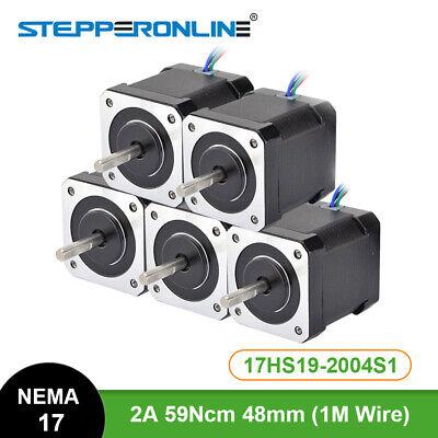 Stepperonline 5pcs Nema 17 Stepper Motor 84oz.in 4-lead 17hs19-2004s1 3d Printer