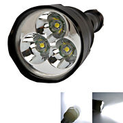 3X CREE XM-L T6 LED Flashlight