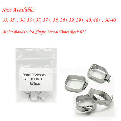10 Kits Dental Orthodontic Roth 022 1st Molar Buccal Tube Bands Single 36-40