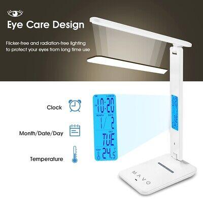 Table Eye Protect Desk Charging Wireless LED Lamp for Alarm Study Calendar Clock