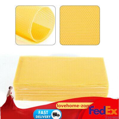 30x Honeycomb Bee Honey Foundation Beeswax Beehive Frames Beekeeping Tool Us