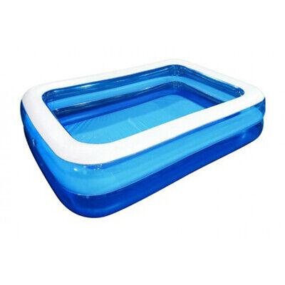 Planschbecken Kinderpool 202 x 151 cm blau mit Kopfstütze Pool Getränkehalter