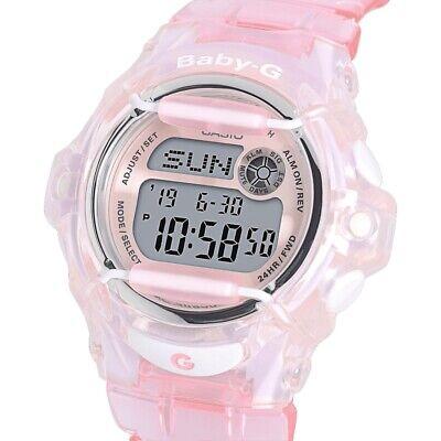 Casio Female Baby-G BG-169R-4ER World Time Telememo Digital Pink Watch USED
