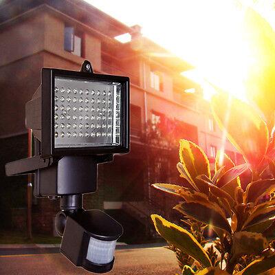 60x LED Außen Leuchte Solarlampe Solarstrahler Bewegungsmelder Sensorlicht DHL