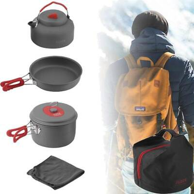 ALOCS Portable Outdoor Camping Cookware Hiking Cooking Equipment Picnic Pot Set