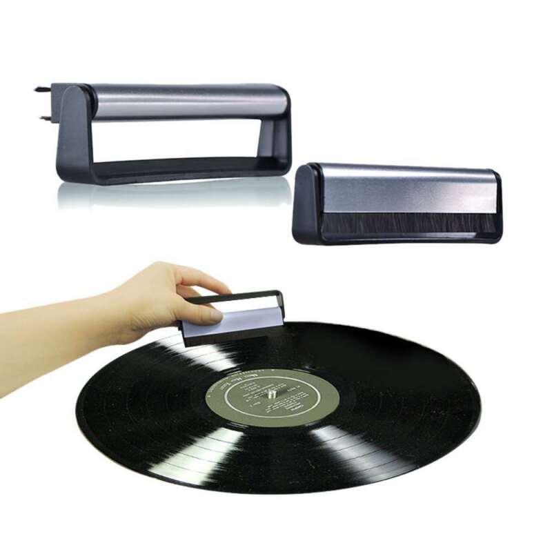 Carbon Fiber Cleaning Brush Anti-Static Vinyl Record Cleaner Brush for CD/LP
