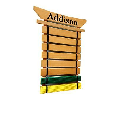 8 Level Personalized Martial Arts Belt Holder Display Rack