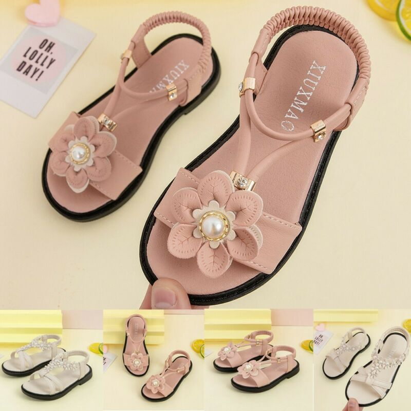 Toddler Kids Baby Girls Shoes Princess Shoes Solid Casual Sh