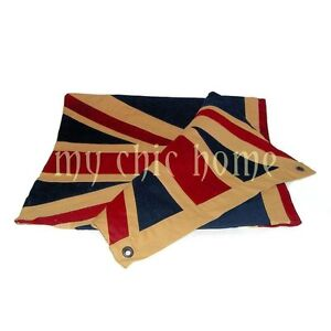 Vintage Union Jack Flag | Great Britain | Cloth | 42 x 20