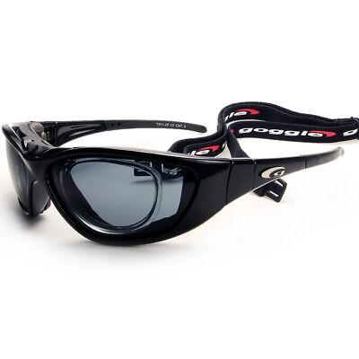 Sportbrille Bikerbrille mit Optik-Clip für Brillenträger Windschutz + Band
