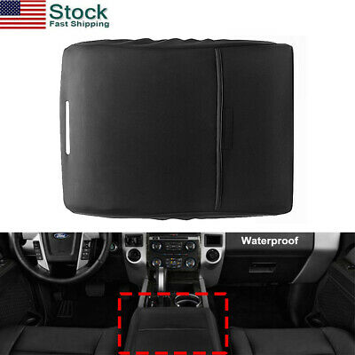 Black Fits Ford F150 F250 Truck 2012-2019 Center Armrest Console Lid Cover US