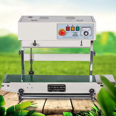 110v Auto Continuous Vertical Plastic Bag Band Sealing Machine Package Sealer