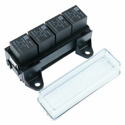 4 Way Automotive Relay Box Holder with Relays Auto Car 12V