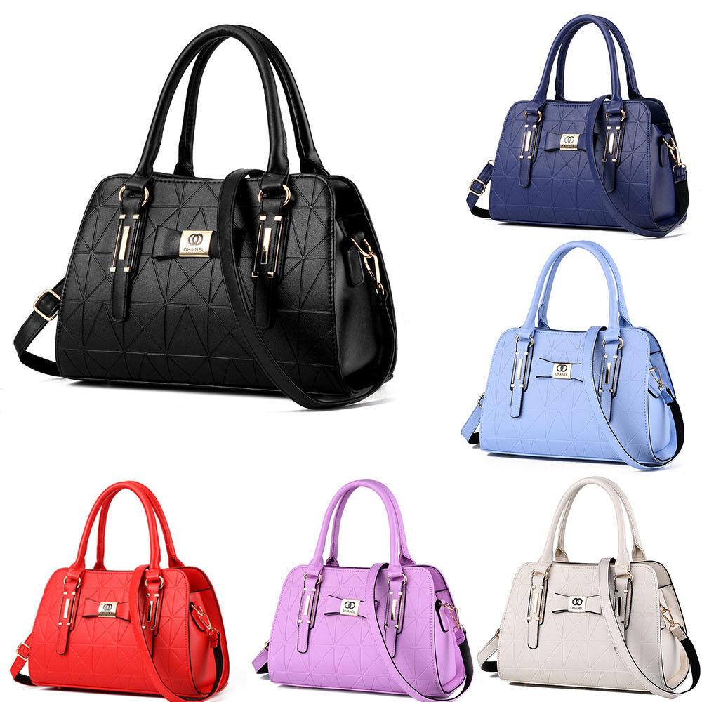 Damen Tasche Handtasche Bag Umhängetasche Trage Schwarz Schultertasche 11 Farbe