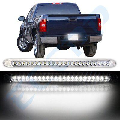 "White Trailer Truck RV Stop/Tail/Rear/Brake/Turn Light Bar Waterproof 17"" 23LED"