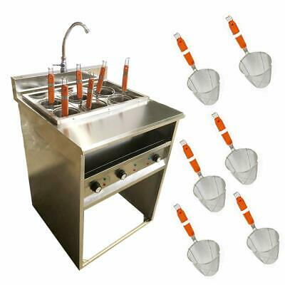 Commercial Electric 6 Basket Noodle Pasta Cooker Machine Stainless Steel 220v