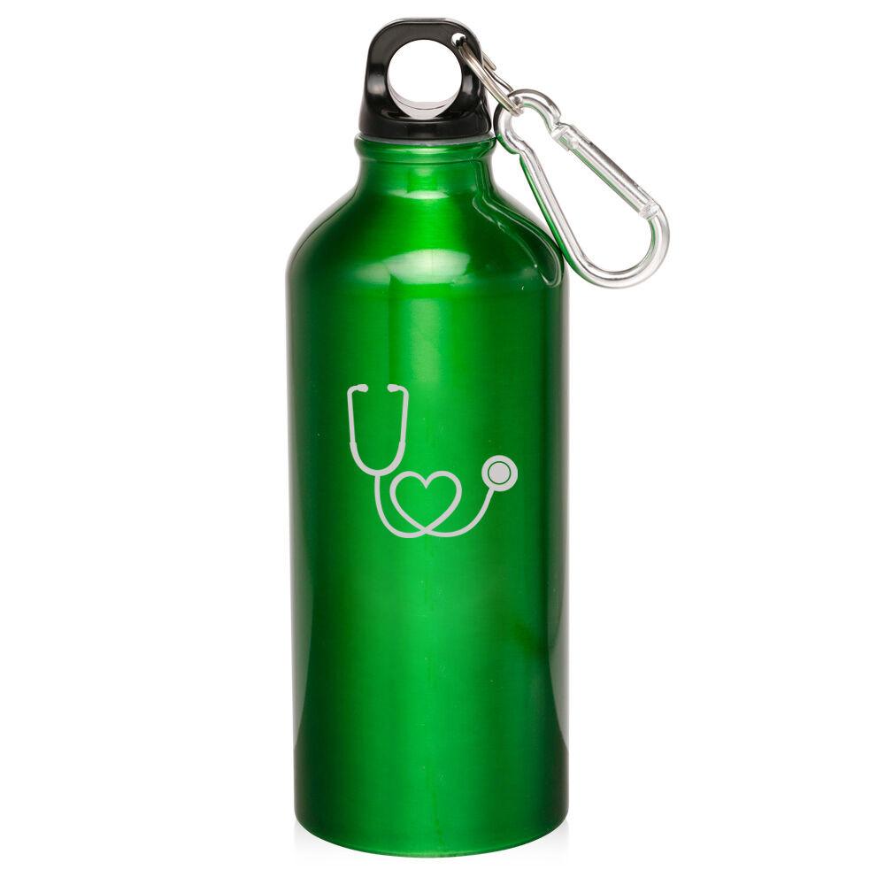 20oz Aluminum Sports Water Bottle Canteen Clip Heart ...