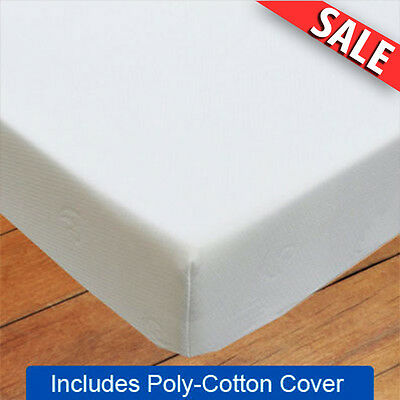 "3FT Single 20cm (8"") - Memory Foam Mattress - Including FREE Poly-Cotton Cover ✔"