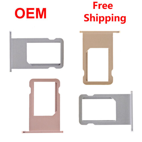 OEM Sim Card Holder Tray Single Dual For Apple iPhone 5 6S 7