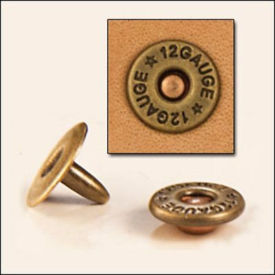 Shotgun Shell Rivets 30/pk  (1388-01) White Bear Leather