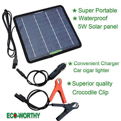 Solar Panel 12V Battery Charger Process Maintainer Marine Boat RV Car Waterproof
