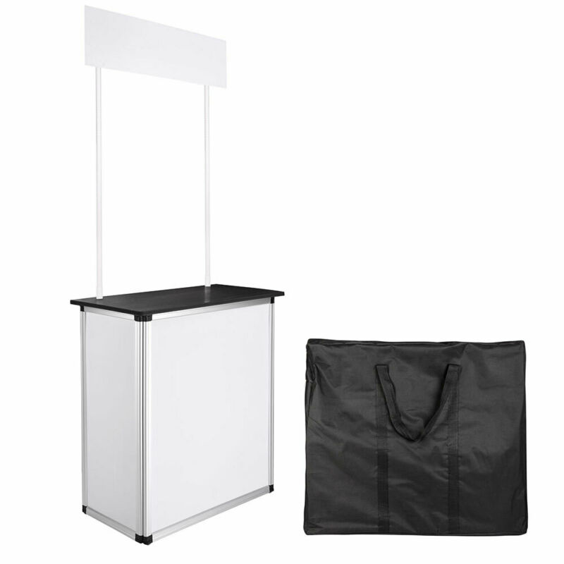 Popup Promotion Counter Table Booth Demo Display Banner Stand Tradeshow Aluminum