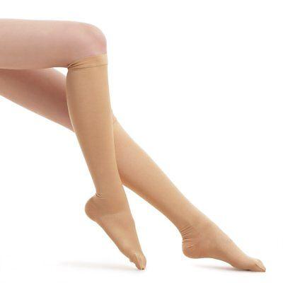 Fytto 1020 Women's Compression Socks, Opaque 15-20mmHg Hosiery, Flight Stockings