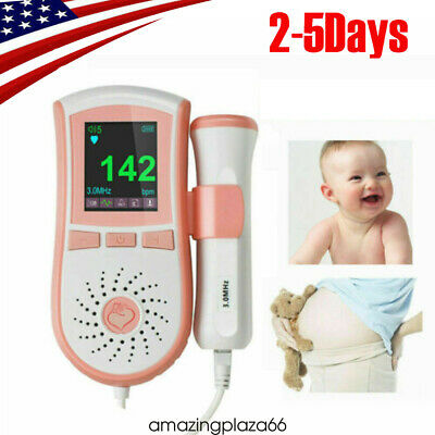 Color Fetal Dopler Prenatal Baby Heart Beat Monitor Digitalcurve Display Fdace