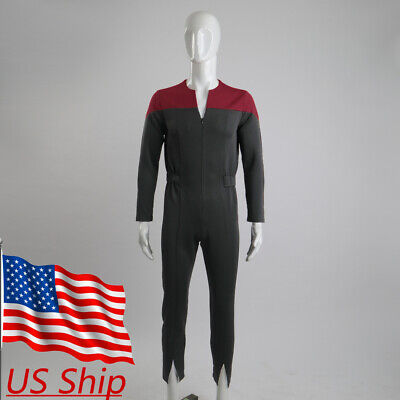 Star Trek Deep Space Nine Cosplay Commander Sisko Duty Uniform Jumpsuit Costumes - Startrek Costume
