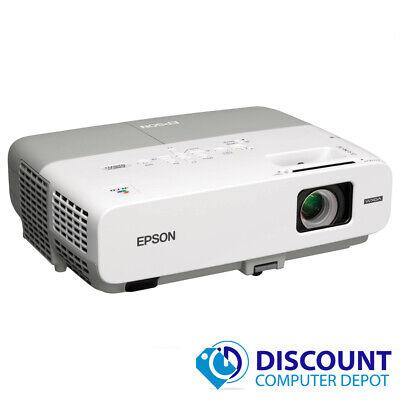 Epson PowerLite 826W 3LCD Projector 2500 Lumens 1080i 1280 x 800 1984 Hours