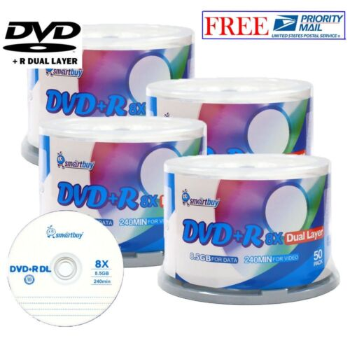 200-pack Smartbuy Logo Top Surface Dvd+r Dl 8x Dual Layer...