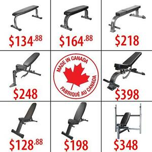 Flat Incline Decline Adjustable Folding Bench | Chin Up Bars | Kettlebells | Rubber Hex Dumbbells | Olympic Plates