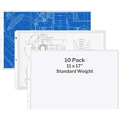 Dunwell 11x17 Sheet Protectors Landscape - Standard Weight 10 Pack 17quot 3