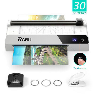Touchscreen A4 Thermal Laminator 9 Inches With 30 Pouchespaper Trimmer