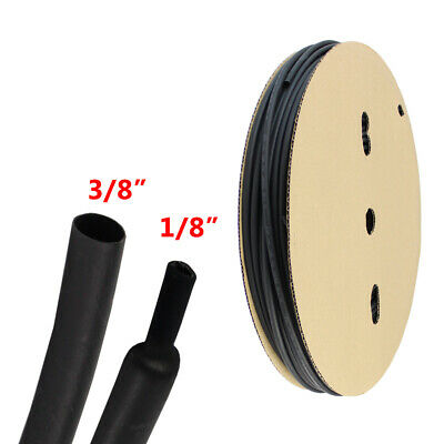 38 Heat Shrink Tubing Adhesive Glue Cable Wire Protector Wear Resisting 8 Ft
