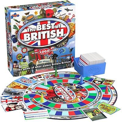 Logo Best Of British Family Board Game Brand New! Age 12+ Drumond Park Free Del!