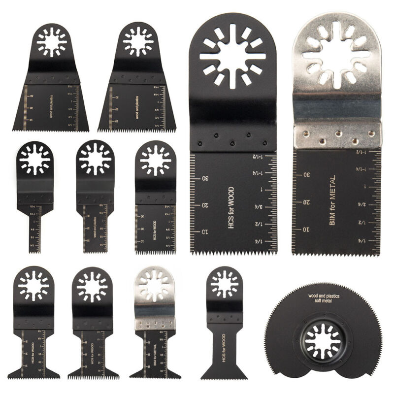 New 12pcs Oscillating Multi Tool Saw Blade Kit For Fein Multimaster,Ridgid Ryobi