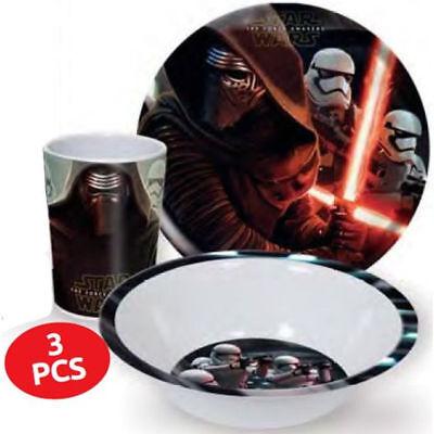 Kinder Frühstücksset Star Wars Melamin Kindergeschirr Disney Geschenkidee