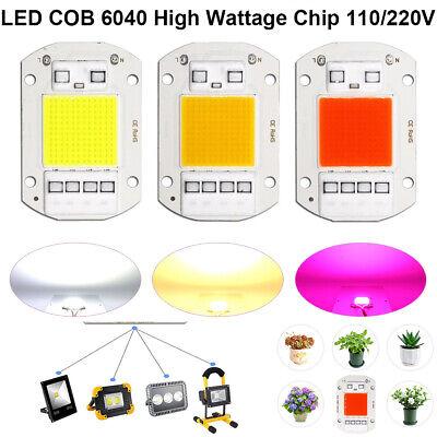 1-6pack 110220v Smart Ic 20w 30w 50w Driverless Cob Led Chip Plant Growing Lamp