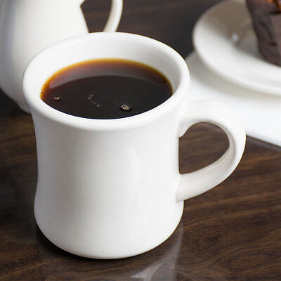 Core 11 oz. Ivory (American White) Victor China Coffee Mug - 12/Case