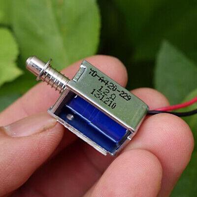 6v-12v Dc Suction Mini Electromagnet Spring Push Pull Type Rod Solenoid Magnets
