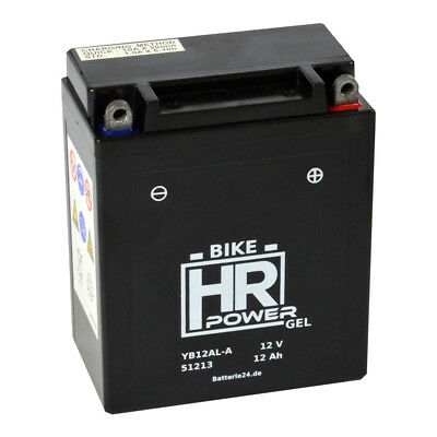 HR Bike Power 12V 12Ah GEL Motorradbatterie YB12AL-A2 51213