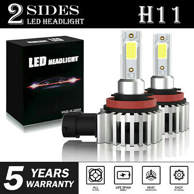 H8 H9 H11 LED Headlight Super Bright Bulbs Kit 4000LM 80W HIGH/LOW Beam