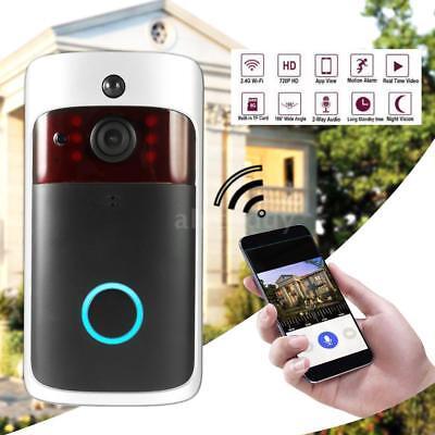 Smart Wireless WiFi Security DoorBell Video Door Phone Recording IR Night Vision