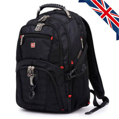 "15.6"" Laptop Backpack Notebook Rucksack Swiss Gear Travel Outdoor School Bag"